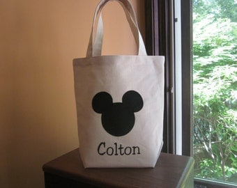 TOTE BAG Mickey Personalized Toddler or Big Kid Tote