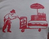 Ignatius Hot Dog Cart - Unisex Tshirt
