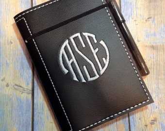 Monogrammed Vinyl Mini Composition Book Cover