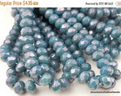 25% OFF Summer Sale 30 3x5mm Turquoise Bronze Picasso Faceted Rondelle Czech Glass Beads