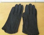 vintage black ladies gloves