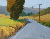 One Lane Road - 9 x 12 Inch Original Landscape Oil Painting of a Road - Country Painting - Living Room Art - Wall Decor