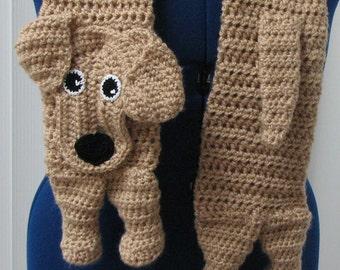 Hand Made Labrador Crochet Scarf Made to Order