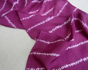 Rich red silk scarf