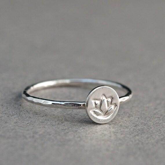 lotus ring sterling silver lotus flower ring jewelry