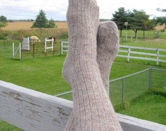 Mens Socks - Alpaca Wool Socks Grown in Michigan - Large Size - Great Christmas Gift for Men