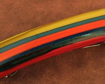 Millefiori Fused Glass Barrette No. 359