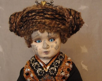 Santo Doll by Ugly Shyla       Old Saint Santo Statue Inspired Doll Hard Sculpt hand made OOAK assemblage