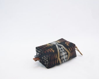 Mini Dopp Bag in Diamond River Wool