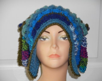 CLEARANCE Freeform Freestyle Crochet Hat with Corkscrews Price Marked is the Sale Price