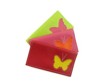 Duplicate Checkbook Cover with Butterfly by Tender Roni *Choose Your Own Colors* Available for Top and Left Tear Checks