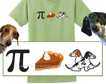 Piebald Dachshund Pie T-Shirt