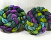 NEW Hand Dyed Mixed Merino Black and White Combed Top for Spinning Yarn Hollow Manic Monday Multi Color