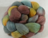 NEW Yarn Hollow Hand Dyed Blue Face Leicester Combed Top Terpsichore Multi Color