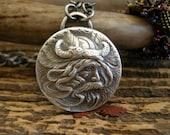 viking necklace, sterling silver viking necklace, handmade necklace, viking unisex jewelry, viking medallion necklace