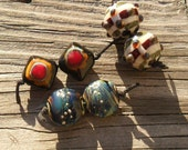 Reserved for S, Lampwork Bead Pairs, SRA  Glassymom