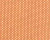 """17"""" piece/remnant - Farmhouse - Polka Dotties in Pumpkin: sku 20257-12 cotton quilting fabric by Fig Tree and Co for Moda Fabrics"""