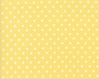 Chestnut Street - Polka Dot in Daisy: sku 20276-18 cotton quilting fabric by Fig Tree and Co. for Moda Fabrics - 1 yard