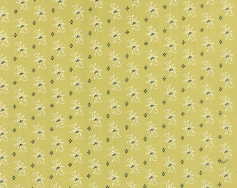 Farmhouse - Calico Blossom in Meadow: sku 20254-17 cotton quilting fabric by Fig Tree and Co for Moda Fabrics - 1 yard
