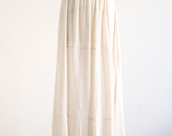 Vintage Linen Look Maxi