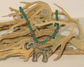 Primitive Horse Necklace
