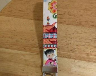 China Doll Wristlet Keychain