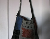 Morrissey, Moz, The Smiths, Salford Lads Club Bag - Plaid Punk Prints - Repurposed, Recycled Retro Materials - Handmade,  One of A Kind