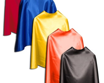 "Super Hero Capes Childrens 5 Pack (you pick color): 22"" Capes Ages 2-10"