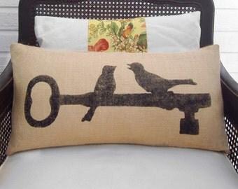 Personalized Name And Est Date Pillow Burlap Pillow Lumbar