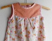 XXS 2/3 Girls' Cotton Shirt/Tunic Handmade OOAK Ready to Ship Fox