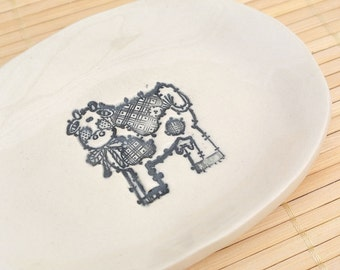 Cute Country Cow Dish