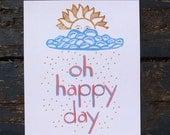 art print Oh Happy Day