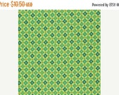 SALE Denyse Schmidt Flea Market Fancy Legacy Collection Medallion Green cotton Fabric by the yard
