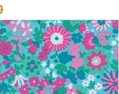 SALE Liberty Art Marylebone Katy Aqua Cotton Fabric Libery of London and Kaffe Fassett