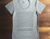 Captain Wentworth's Letter - Women's T-shirt - Jane Austen - Persuasion - S, M, L, XL