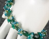 NEW ITEM - 20% OFF Green Apatite Bracelet - Bangle - Wire Wrapped - Cluster - Signature Jewelry