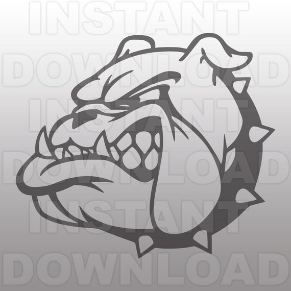 Bulldog Mascot Svg File Cutting File Clip Art For Commercial