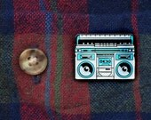 Old School Boombox Lapel Pin