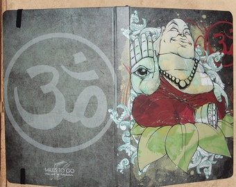 Buddha Zen Om Journal Notebook - 240 pages - sewn bound - 8.5 x 6 - split blank/lined pages