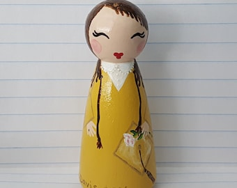 Hand Painted Love Boxes Graduate Graduation Portrait Peg Doll Wood