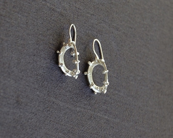bent oval earrings