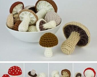 PDF Mushroom Collection & Variations CROCHET PATTERNS