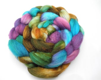 Katatomic Hand Dye Spinning Fiber - Roving Dyed to Order
