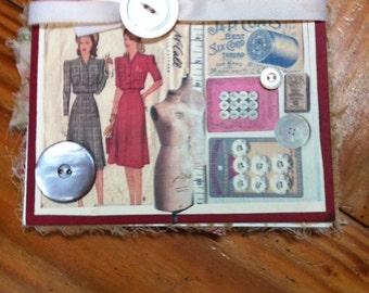Sewing journal notebook