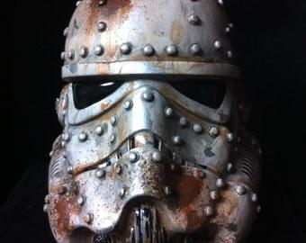 White Steampunk Stormtrooper Helmet Star Wars Design A Vinyl helmet 8 inch