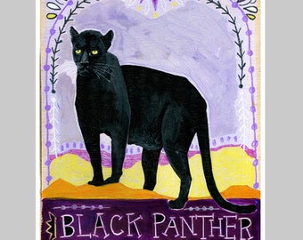Animal Totem Print - Black Panther
