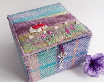 Handmade Harris Tweed and Felt Box