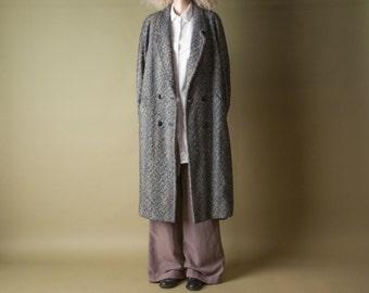 the passenger oversized tweed coat / long minimalist coat / winter coat / m / 984o
