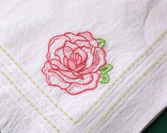 pink rose - hanky