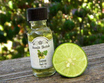 Lime Spell Oil - Purification, Cleansing, Love, Uplift, Increasing Personal Energy, Makrut Lime, Pagan, Wicca